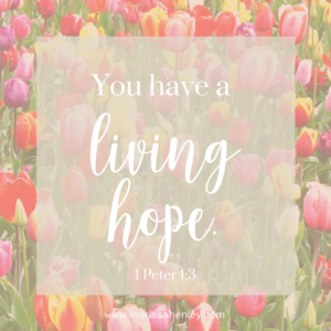 You have a living hope. Biblical encouragement, Scripture, and devotionals for women.